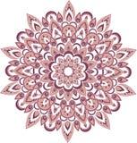 Vector purpere mandalaillustratie Royalty-vrije Illustratie