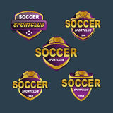 Vector purple badge football banners Royalty Free Stock Photography