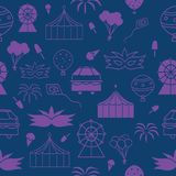 Vector purple carnival seamless repeat pattern for this summer vector illustration
