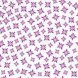 Vector purple flowers seamless pattern Royalty Free Stock Photos