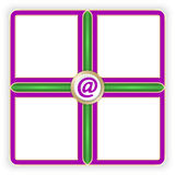 Vector purple frames Stock Images