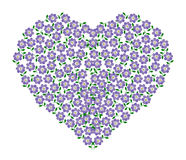 Vector of Purple Heart. On Background Royalty Free Stock Image