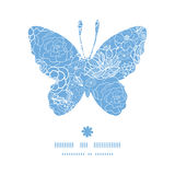 Vector purple lace flowers butterfly silhouette Stock Photo