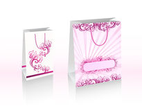 Vector purple shopping bags Royalty Free Stock Photography