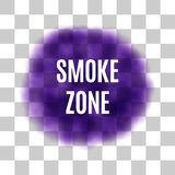 Vector Purple Smoke for Use on Light Background Royalty Free Stock Photography