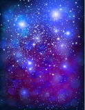Vector purple template background. With sparkles and glitter Stock Photo
