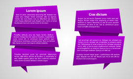 Vector purple text label Stock Photo