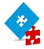 Vector puzzle Stock Image