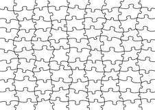 Vector puzzle. Of 99 psc. to use on any picture or design Stock Images