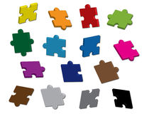 Vector puzzle 3D royalty free illustration