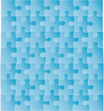 Vector puzzle. Blue and empty puzzle with a lot of links. Vector illustration. The additional file is attached which can be changed easily Stock Image