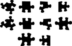 Vector puzzle Stock Photos