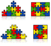 Vector puzzle Stock Photo