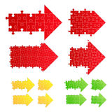 Vector puzzle arrows Royalty Free Stock Images