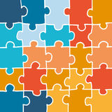 Vector puzzle background. Handmade vector puzzle background. Jigsaw pieces illustrated by hand Stock Photo