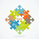Vector puzzle concept Royalty Free Stock Image