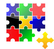 Vector puzzle Royalty Free Stock Photos