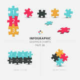 Vector puzzle elements for your infographics Royalty Free Stock Photos