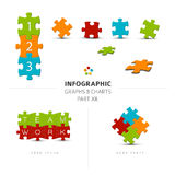Vector puzzle elements for your infographics. Part 12. of my infographic bundle Royalty Free Illustration