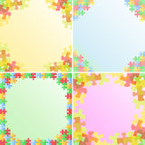 Vector Puzzle Frames Royalty Free Stock Photos