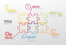 Vector puzzle Infographic report template Royalty Free Stock Photography