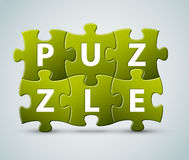 Vector puzzle lettering Royalty Free Stock Images