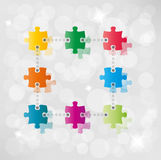 Vector puzzle path background Stock Images