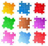 Vector Puzzle Patterns Royalty Free Stock Photography