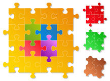 Vector Puzzle Pieces Royalty Free Stock Images