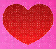 Vector puzzle with red heart Royalty Free Stock Photography