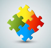 Vector puzzle / solution background Royalty Free Stock Images