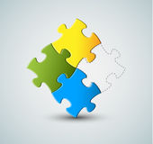 Vector puzzle / solution background Stock Photo