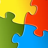Vector puzzle / solution background Stock Photography