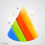 Vector pyramid infographic. Design template. Stock Photography