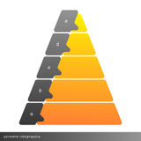 Vector pyramid infographic shows growth with gradient fill. Royalty Free Stock Photo