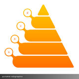 Vector pyramid infographic shows growth with gradient fill. Stock Image
