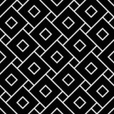 Vector quadrados sem emenda modernos do teste padrão da geometria, sumário preto e branco Imagem de Stock