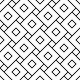 Vector quadrados sem emenda modernos do teste padrão da geometria, sumário preto e branco Fotos de Stock