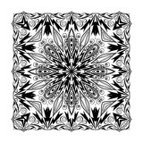 Vector quadratic mandala. Ethnic decorative elements. Hand drawn Stock Photography