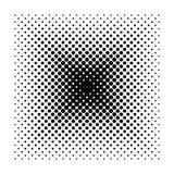 Vector quadratische geometrische Halbtonformen, Design-Zusammenfassungshintergrund des Punktes minimalen Lizenzfreie Stockfotografie