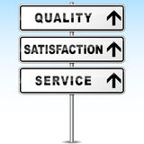 Vector quality signpost Royalty Free Stock Photography