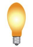 Vector que brilla intensamente del bulbo stock de ilustración