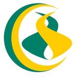 Vector que dibuja el logotipo del camino en el globo stock de ilustración