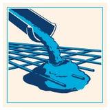 Vector que vierte el icono concreto libre illustration