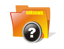 Vector question folder. Isolated orange faq or questions folder Stock Images
