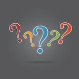 Vector of question mark. Royalty Free Stock Photos