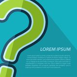 Vector question mark icon. Eps10. Vector green question mark icon with text. Eps10 Stock Images