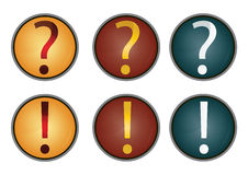 Vector question mark and info Stock Images