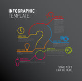 Vector Question Mark Infographic report template Royalty Free Stock Image