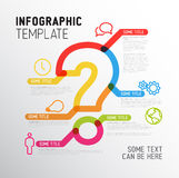 Vector Question Mark Infographic report template Royalty Free Stock Photos